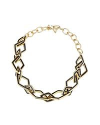 Kenneth Jay Lane - Metallic Statement Necklace - Lyst