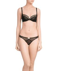 L'Agent by Agent Provocateur | Black Carla Thong | Lyst