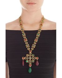Kenneth Jay Lane | Metallic Embellished Necklace | Lyst