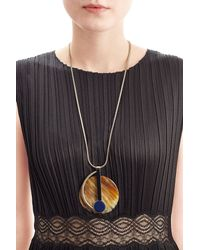 Marni - Metallic Pendant Necklace - Gold - Lyst