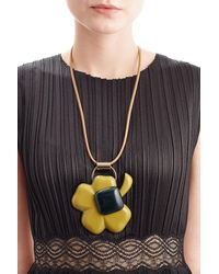 Marni | Black Leather Necklace With Pendant | Lyst