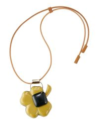 Marni - Black Leather Necklace With Pendant - Lyst