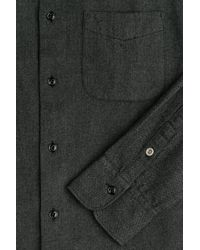 Rag & Bone - Black Cotton And Wool Shirt for Men - Lyst