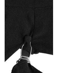 Maison Margiela - Black Cotton Top With Cut-out Detail - Lyst