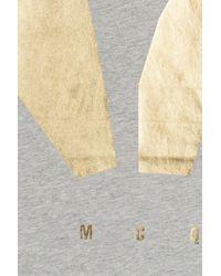 McQ - Gray Printed Cotton T-shirt - Lyst