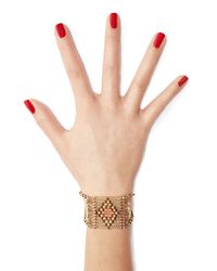 Valentino | Metallic Bead Embellished Bracelet | Lyst