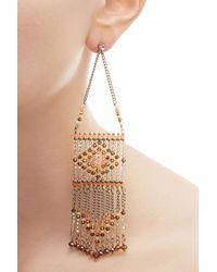 Valentino | Metallic Bead Embellished Earrings | Lyst