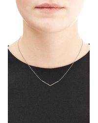 Diane Kordas | Metallic 18kt Rose Gold Necklace With White Diamonds | Lyst