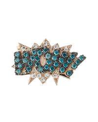 Diane Kordas - Blue Wow! 18kt Rose Gold Earrings With Diamonds - Lyst