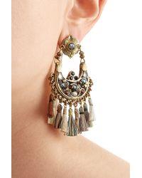 Gas Bijoux - Metallic Beaded Chandelier Earrings - Lyst