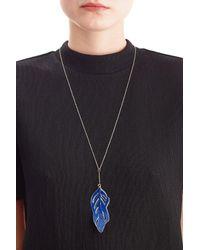 Aurelie Bidermann | Metallic 18kt Gold Swan Feather Necklace | Lyst