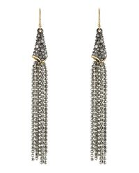 Alexis Bittar - Gray Tassel Chain Earrings - Silver - Lyst