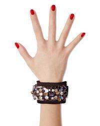 Marni - Crystal Embellished Cuff Bracelet - Black - Lyst