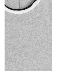 Rag & Bone - Gray Cotton Rib Base T-shirt - Lyst