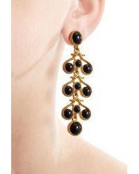 Kenneth Jay Lane | Metallic Embellished Drop Earrings | Lyst