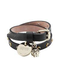 Alexander McQueen | Multicolor Embellished Leather Wrap Bracelet | Lyst