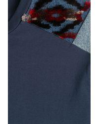 Maison Margiela - Blue Cotton T-shirt With Contrast Patches for Men - Lyst