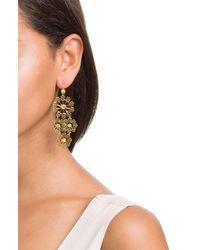 Gas Bijoux | Metallic Neige Mini 24kt Gold Plated Embellished Chandelier Earrings | Lyst