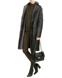JOSEPH | Black Sheepskin And Leather Coat | Lyst