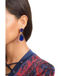 Kenneth Jay Lane | Blue Embellished Earrings | Lyst
