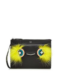 Fendi - Multicolor 2jours Leather Shoulder Bag With Fox Fur - Lyst