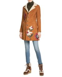 See By Chloé | Brown Suede Wedge Boots With Shearling | Lyst