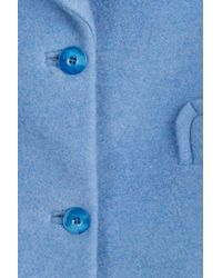 Carven - Blue Coat With Heart Lapels - Lyst