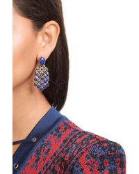 Aurelie Bidermann | Blue 18kt Gold Plated Lapis Lazuli Earrings | Lyst