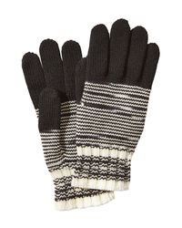 Missoni | Black Wool Variegated Knit Gloves | Lyst