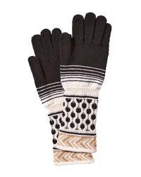 Missoni | Black Wool Mixed Knit Gloves | Lyst
