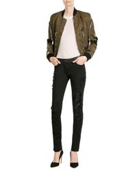 Jitrois | Black Distressed Skinny Pants With Leather | Lyst