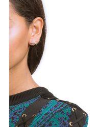 Ileana Makri | Metallic 18k Yellow Gold Eyelash Ear Cuff With White Diamonds | Lyst