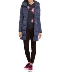 Peuterey | Blue Down Coat With Hood | Lyst