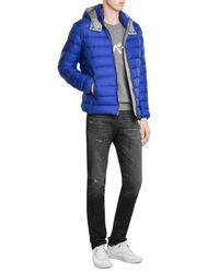 Colmar | Blue Quilted Down Jacket With Hood for Men | Lyst
