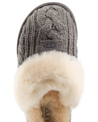 UGG | Gray Cozy Knit Slippers With Wool And Sheepskin for Men | Lyst