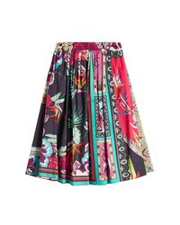Etro - Multicolor Printed Cotton Skirt - Lyst