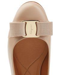 Ferragamo | Multicolor Varina Leather Ballet Flats | Lyst