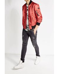 Burberry | Red Bomber Jacket for Men | Lyst