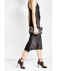 Diane von Furstenberg | Black Leather Clutch With Calf Hair | Lyst