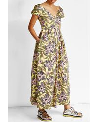 RED Valentino | Multicolor Printed Cotton Maxi Dress | Lyst