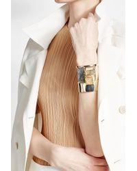 Alexis Bittar | Metallic Embellished Gold-plated Cuff Bracelet | Lyst