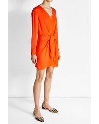 3.1 Phillip Lim   Orange Silk Dress With Knot Detail   Lyst
