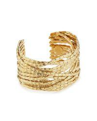 Gas Bijoux - Metallic Liane 24k Gold Plated Cuff - Lyst