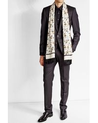 Dolce & Gabbana   Multicolor Printed Silk Scarf for Men   Lyst