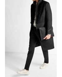 Alexander McQueen | Black Military Coat With Cotton And Silk for Men | Lyst