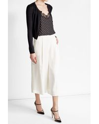 HUGO | Black Silk Cardigan With Cotton And Cashmere | Lyst
