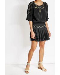 Vanessa Bruno | Black Embroidered Silk Dress | Lyst
