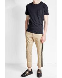 Woolrich | Blue Cotton T-shirt With Linen for Men | Lyst