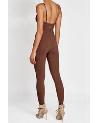 PUMA | Brown Jersey Jumpsuit With Lace | Lyst