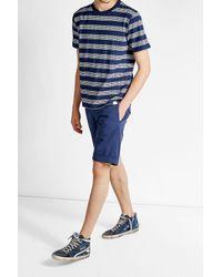Incotex   Blue Royal Batavia Cotton Bermuda Shorts for Men   Lyst